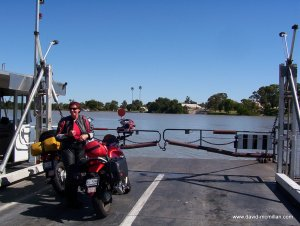 Crossing the Murray River at Wellington, S.A.