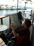Saltwater cafe at Bermagui wharf.