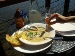 Mussel soup at Bermagui wharf.